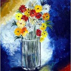 the blooming flowers size - 11.69x16.5In - 11.69x16.5