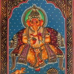 Lord Ganesha size - 16x12In - 16x12