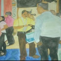 Inside Art Gallery size - 35.43x27.55In - 35.43x27.55