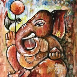 Vighanaharta (Ganesha) size - 12x16.5In - 12x16.5