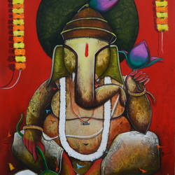 shree ganesha size - 30x54In - 30x54