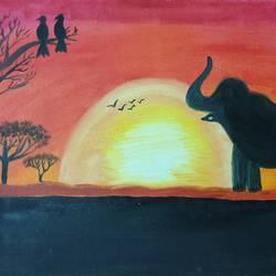 Wildlife sunrise size - 20x16In - 20x16