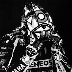 Valentino Rossi Drawing size - 10x15In - 10x15