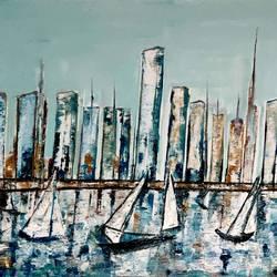 NEW YORK SKYLINE size - 43x31In - 43x31