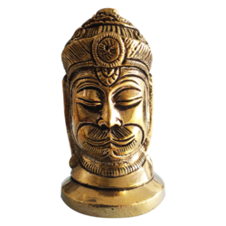 Lord Hanuman Murti Face Brass Sculpture size - 2x3.5In - 2x3.5