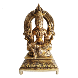Devotional Goddess Durga Brass Sculpture size - 4x7.5In - 4x7.5