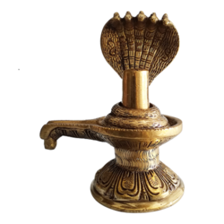 Brass Handmade Lord Shiva Lingam Sculpture size - 5x6In - 5x6