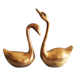 Brass Swan Showpiece Set   size - 9x7.5In - 9x7.5