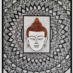 Buddha Doodle Art size - 10x14In - 10x14