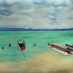 Sea Beach size - 24x18In - 24x18