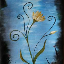 Floral Art 2 size - 15x21In - 15x21