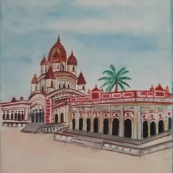 Dakshineshwar Temple size - 11.8x16.5In - 11.8x16.5