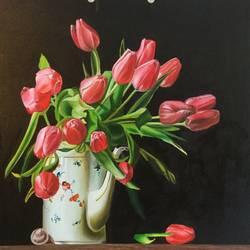 Tulips  size - 26x26In - 26x26