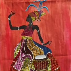 African Art Through Dot Painting size - 12x18In - 12x18