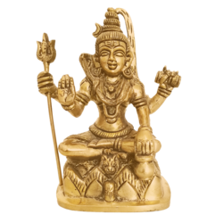 Religious Lord Shiva With Sulayutham Brass Statue size - 2x6In - 2x6