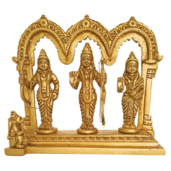 Religious Goddess Sita Devi With Ram and Laxman Brass Statue size - 1.5x5In - 1.5x5