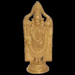 Divine Sri Tirupati Balaji Brass Statue size - 3x8In - 3x8