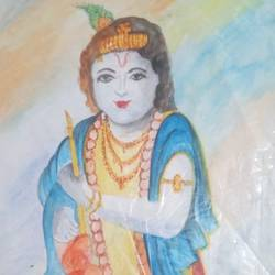 Shri Krishna size - 16.5x23.4In - 16.5x23.4