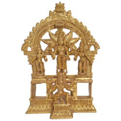 Religious Lord Balaji Standing with Goddess Padmavathi and Alamelu Brass Statue  size - 1.5x8In - 1.5x8