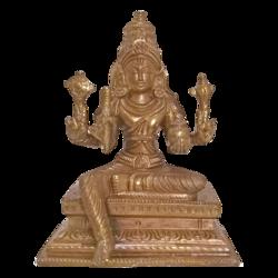 Blessing Lord Sri Venkateswara Holding Sangu Bronze Statue size - 2x6In - 2x6