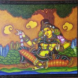 Kerala mural painting size - 31x27In - 31x27