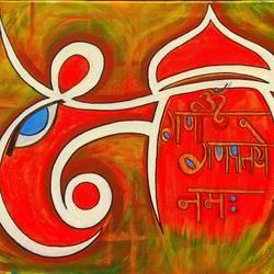 Abstract Ganeshji size - 24x16In - 24x16