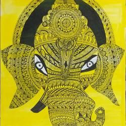 Mandala art Ganesh ji size - 10.6x13.66In - 10.6x13.66