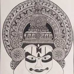 Mandala art  size - 10.6x13.66In - 10.6x13.66