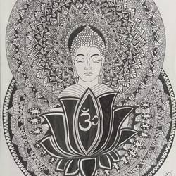 Mandala art size - 11x13.66In - 11x13.66