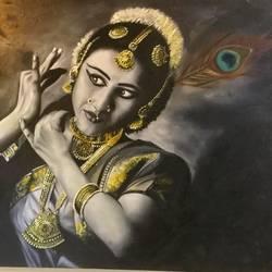 Bharatnatyam Dancer  size - 40x30In - 40x30