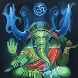 Ganesha size - 24x24In - 24x24