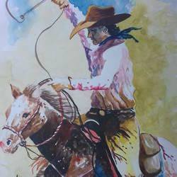Horse rider size - 15x21In - 15x21