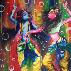 krishna &,radha size - 22x29In - 22x29