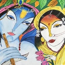 Radha krishan size - 14x22In - 14x22