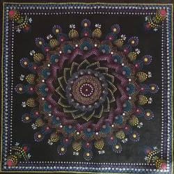 Flower  dot mandala size - 16x16In - 16x16
