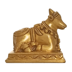 Desingned Lord Nandhi Brass Statue size - 3x3In - 3x3