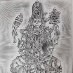 Goddess parvati size - 11.6x16.5In - 11.6x16.5