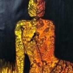 Krishna Leela 4 size - 25x36In - 25x36