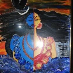 Shiva Parvati  size - 21x28In - 21x28