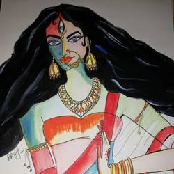 Durga Ji size - 16x11.5In - 16x11.5