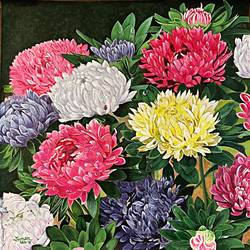 Chrysanthemums  size - 24x24In - 24x24