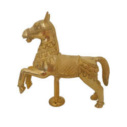 Pure Brass Horse Statue Showpiece size - 9x10In - 9x10
