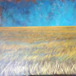 The yellow field size - 44x33In - 44x33