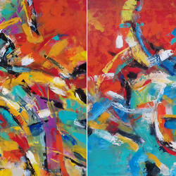 Abstract Nature size - 48x24In - 48x24
