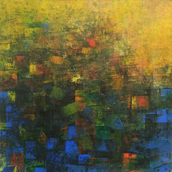 Blue City of Rajasthan size - 24x24In - 24x24