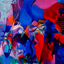 Colour of the Universe XIV size - 60x31In - 60x31