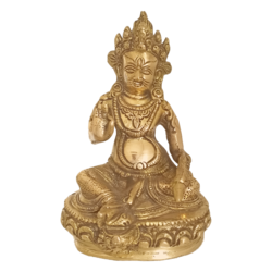 King Pandiya Holding a Fish Brass Statue size - 2x7.5In - 2x7.5