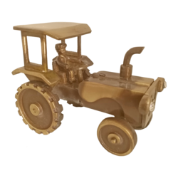Designed Vintage Small Tractor Brass Showpiece size - 2.5x4In - 2.5x4