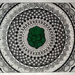Mandala Ink Art size - 30x22In - 30x22