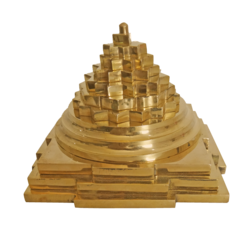 Decorative Pure Brass Pyramid Statue (Medium) size - 3.5x4In - 3.5x4